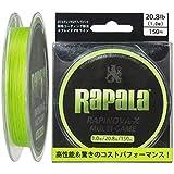 Rapala(ラパラ) PEライン ラピノヴァX マルチゲーム 150m 1.0号 20.8lb 4本編み ライムグリーン RLX150M10LG