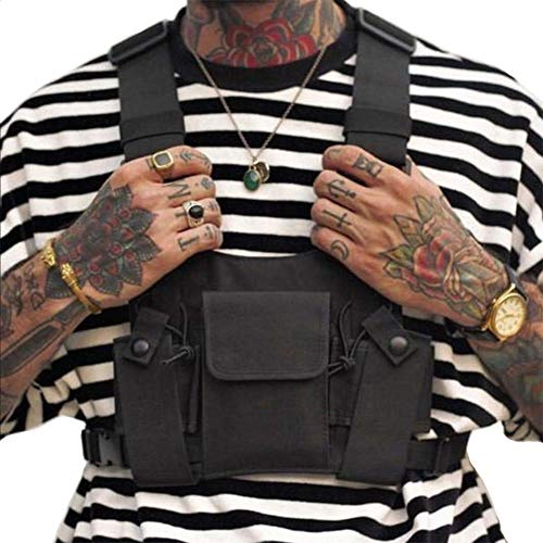Clape Universal Radio Walkie Talkie Brusttasche Harness Pack, Hands Free Weste Chest Rig Bag Geschirr Taschen Rucksack