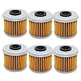 6 Pack Yerbay Motorcycle Oil Filter for Honda TRX 450R TRX450R 2004-2009 2012 / TRX450 ER TRX450ER 2006-2009 2012-2014