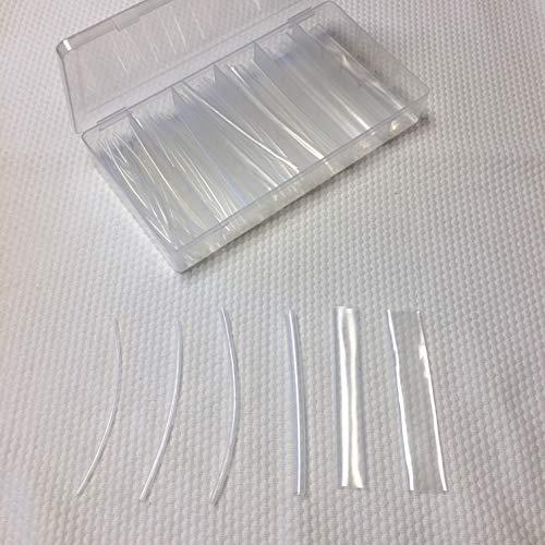 ERAY-Multimedia - Schrumpfschlauch-Sortiment 100-teilig, 6 Größen, Schrumpfrate 2:1, 10cm lang, Aufbewahrungsbox, Isolierung (10cm, Transparent, 100)