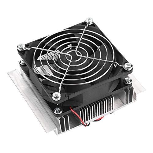 JCCOZ-URG DC 12V refrigerador termoeléctrico refrigerador semiconductor Aire Acondicionado Sistema de enfriamiento Kit de Bricolaje para Tanque de Pescado URG (Color : Negro)