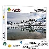 Mini Rompecabezas para Adultos 1000 Piezas Elfin Lake Puzzle en cartón, Adultos niños Rompecabezas Juguete Educativo Intelectual 15'x 10'