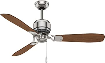 Casablanca Indoor Ceiling Fan, with pull chain control - Tribeca 52 inch, Brushed Nickel, 59501