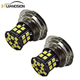 Ruiandsion 2pcs P26S LED Bulbs White Super Bright 2835 30SMD Chipsets 10-80V LED Bulbs for Motorbike Motorcycle Headlights