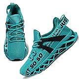 Damen Road Running Sneakers Fashion Sport Workout Gym Jogging Wanderschuhe,41 EU,Blauer See