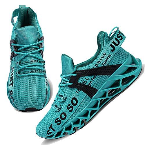 WONESION Womens Walking Running Shoes Athletic Blade Non Slip Tennis Fashion Sneakers (J Lake Blue, Numeric_8)