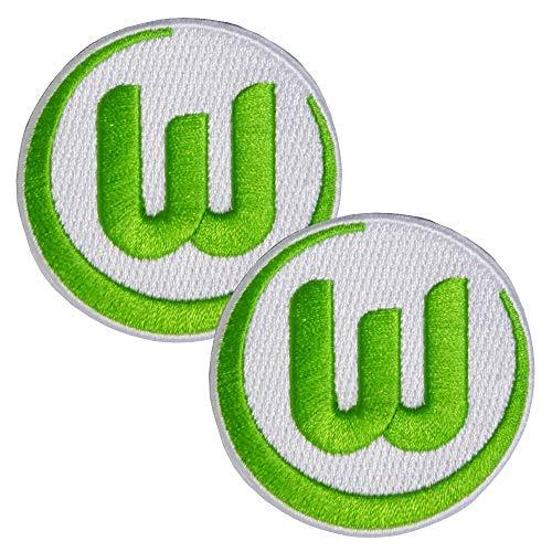 VfL Wolfsburg Aufnäher Aufbügler VFL Logo 2er Set