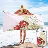 N/A Agaricus Muscarius Toalla de playa de secado rápido, microfibra, para yoga, fitness, escalada...