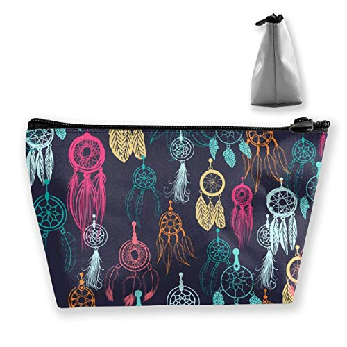 Womena € s Cosmetic Bag Indian Dream Catcher et Plumes Maquillage Sac Portable Toiletry Pouch Pochette de Rangement