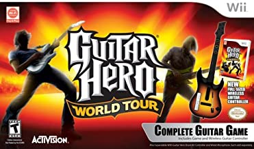 Wii Guitar Hero World Tour Guitar Kit
