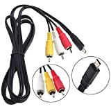 (DKKPIA) AV A/V Audio Video RCA TV Cable Cord Lead for Sony Handycam Model:...