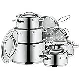 WMF 07 1112 6040 Gala II - Batería de cocina, color plateado