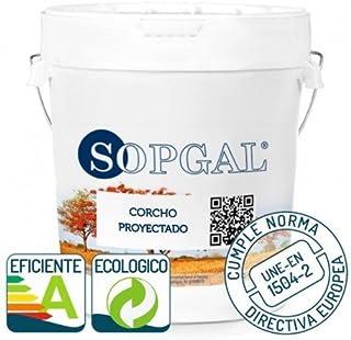 Pintura de Corcho Proyectado natural Sopgal - 15 Ltr, 2-Vainilla, Proyectado