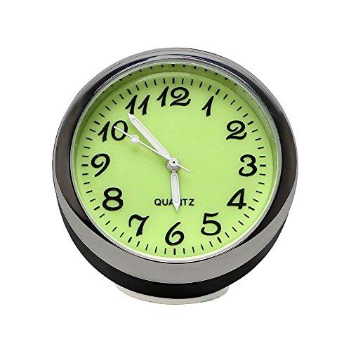 iTimo Car Luminous Quarzuhr, Mini Car Hygrometer und Thermometer, 3 Modelle, für Automobildekore (Uhr)