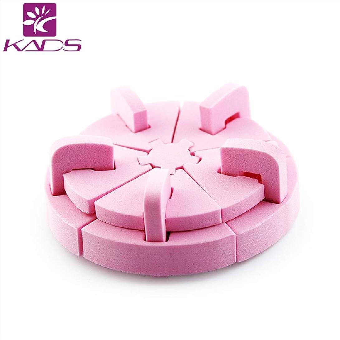 うめき声端体系的にKADSスポンジロータスネイルスタンド ネイル組み立て式 チップスタンド ネイル固定スタンド