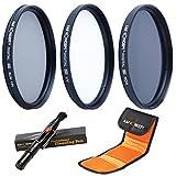 55MM UV CPL ND4 - K&F Concept 55MM Kit Packs de Filtros (55MM Filtro Ultravioleta, 55MM Filtro...