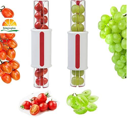 bingxqiso Tomato Slicer Grape Slicer Fruit Vegetable Salad Slicer Cherry Slicer Fruit Cutter Grape Meat Half Cutting Kitchen Accessories Fruit Vegetable Tools Fruit slicer 1 pc Random Color
