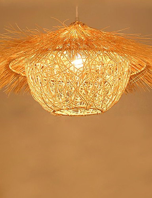 50  30cm Moderne lndliche Cany Kunst aus Rattan Restaurant Einzel-LED-Lampe, Droplight 220-240V-Holz  764