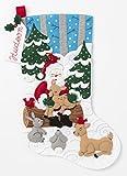 Bucilla Weihnachtsmann-Familie Weihnachtsstrumpf,