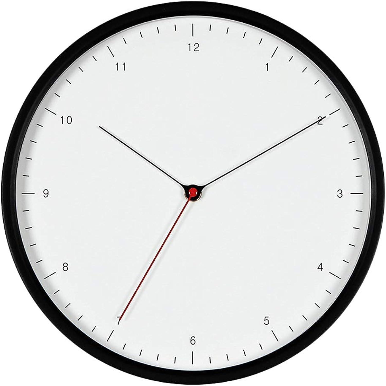 gran descuento HIGJ 12 Pulgadas Reloj de de de Parojo Relojes silenciosos Medición de la Temperatura del Metal Reloj de Bolsillo Junto a la Cama Dormitorio Sala de Estar Reloj Decorativo  los clientes primero