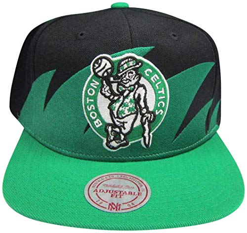 Boston Celtics Mitchell & Ness Snapback Adjustable Plastic Snap Back Hat/Cap