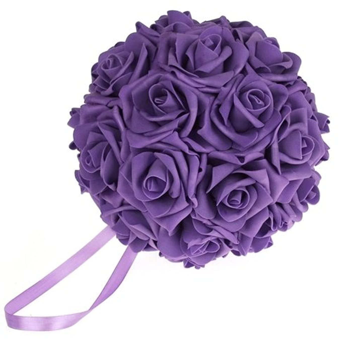 Homeford Firefly Imports Soft Touch Foam Kissing Ball Wedding Centerpiece, 7-Inch, Purple,