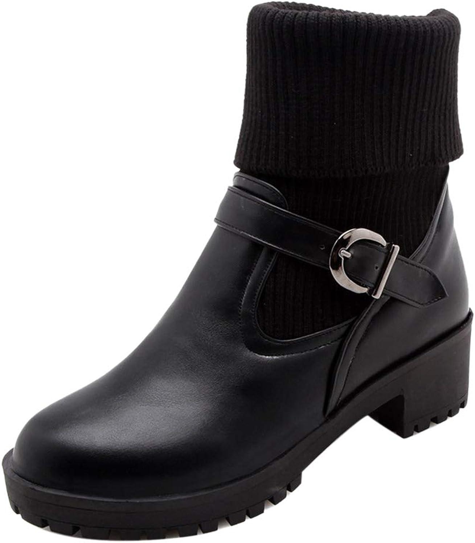 JOJONUNU Women Pull On Ankle Boots
