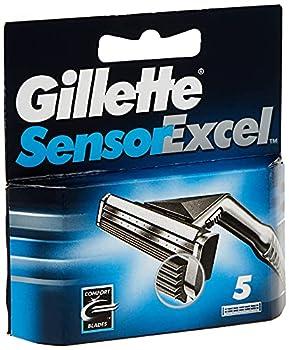 Gillette Sensor Excel Men s Razor Blade Refills 5 Count Mens Razors/Blades