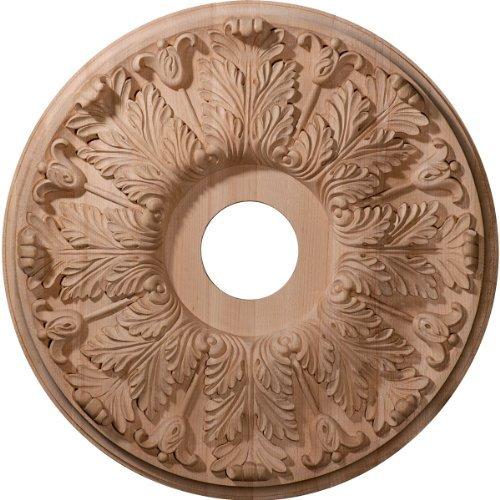 Ekena Millwork CMW16FLRO 16-Inch OD x 3 7/8-Inch ID x 1 1/8-Inch P Carved Florentine Ceiling Medallion, Red Oak by Ekena Millwork