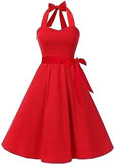 Panfinggin Women's Vintage Cocktail Prom Dresses 50's 60's Rockabilly Belt