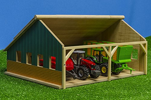 Kids Globe - 610047 - Wooden Tractor Shed - 1:50 Scale