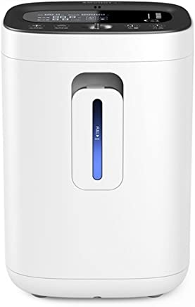 Oxygen concentrator, 3 liter medical atomization oxygen generator family oxygen absorbing machine portable oxygen machine (Color : White)