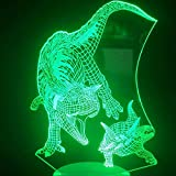 Tiranosaurio 3D Lámpara De Los Ventiladores De La Película De Vacaciones Premio Jurassic Park...