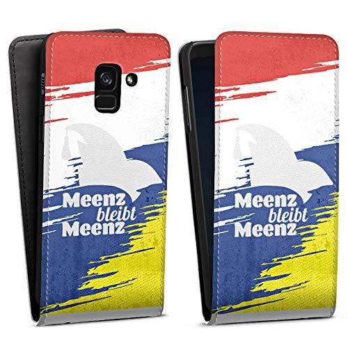 DeinDesign Flip Case kompatibel mit Samsung Galaxy A8 (2018) Tasche Hülle Fastnacht Karneval narrenkappe