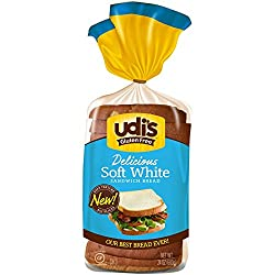 Udi's Gluten Free Soft White Sandwich Bread, Sliced 24 oz (Frozen)