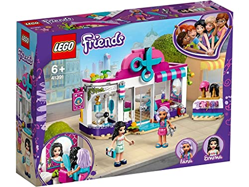 LEGO 41391 Friends Peluquería de Heartlake City Juguete de Construcción con Mini Muñecas para Niños y Niñas de +6 años