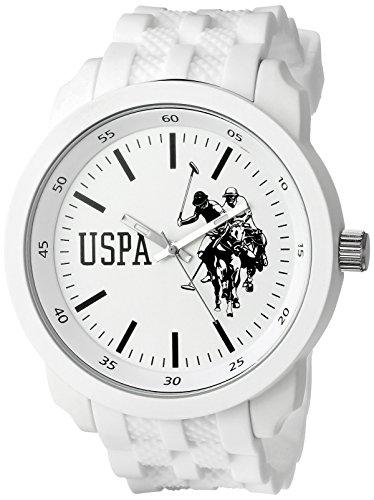 U.S. Polo Assn. Sport USP9035 Reloj analógico de cuarzo blanco para hombre