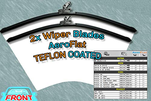 [S981/26/17] Tergicristalli Aero Style/Kit - 2 x Front Blades 26' [650mm] / 17' [430mm] Fit Peugeot 207 & Ford Focus Mk2