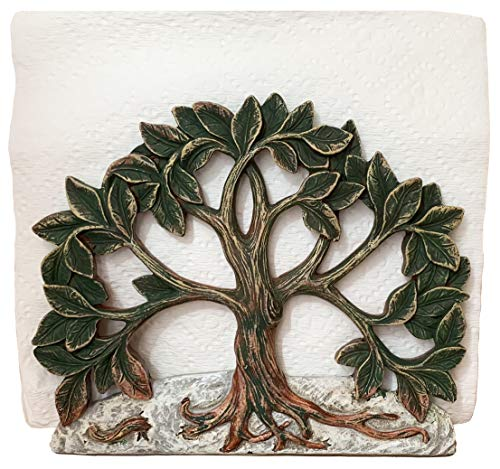 Top Brass Family / Tree of Life Decorative Napkin Holder
