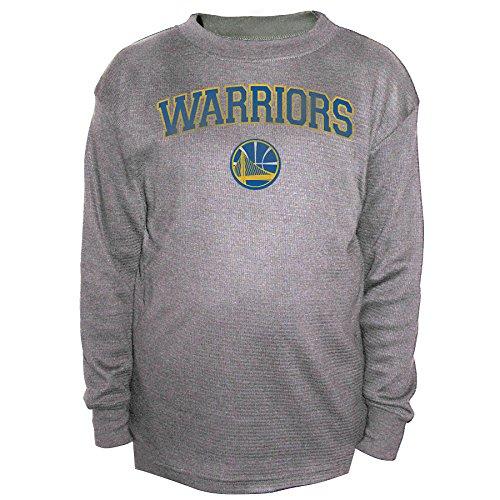 NBA Golden State Warriors Men's B&T Team Thermal Long Sleeve Shirt, 3X, Charcoal