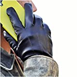iGT CLASS Men's Touch Screen Winter Texting Leather Gloves Black Large