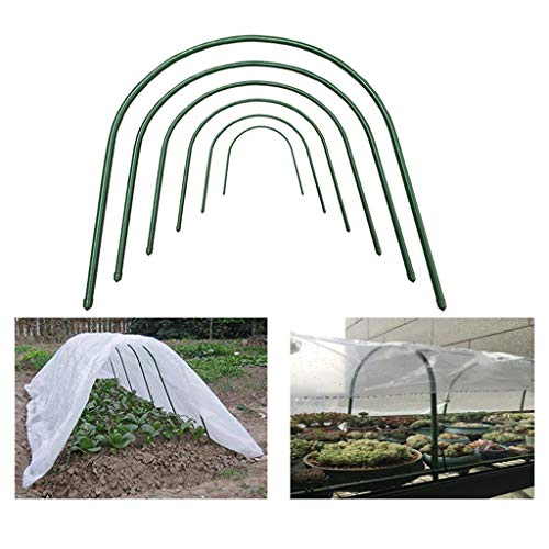 WXJ 10Pcs(65x60cm) Greenhouse Support, Plant Support Greenhouse Hoops, Rain Insulation 8MM Thick Steel Vegetable Field Balcony Conservatory for Flowers and Green Plants