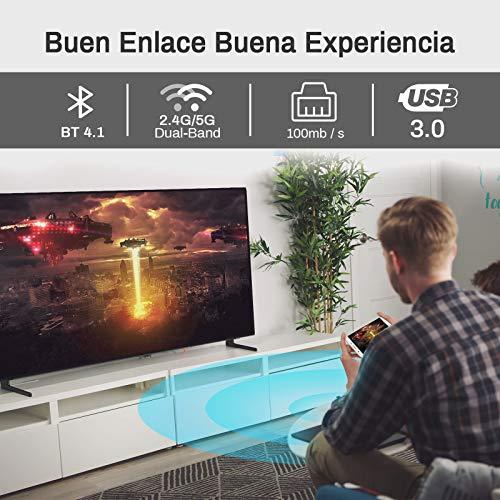 TV Box Android 10.0 4GB Ram 64GB ROM Support Dual WiFi 2.4G 5G Compatible con 6K 4K Ultra HD H.265 3D Allwinner H616 Quad-Core Bluetooth 4.1 Smart TV Box con Mini Teclado miniatura