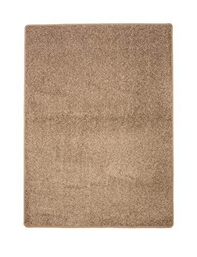 misento Shaggy Alfombra, Polipropileno, Gris Pardo, 133 x 190 cm
