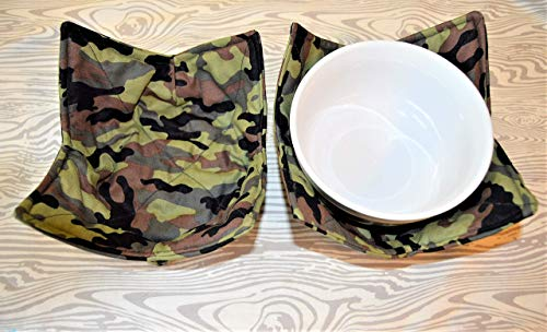 Camouflage Bowl Cozy Set of 2 Microwaveable