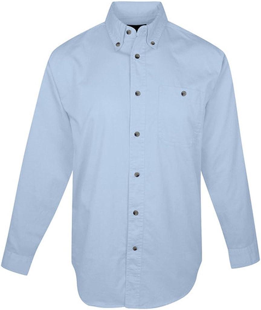 A&E Designs Premium Quality Tall Executive Long Sleeve Button Down Twill Shirt
