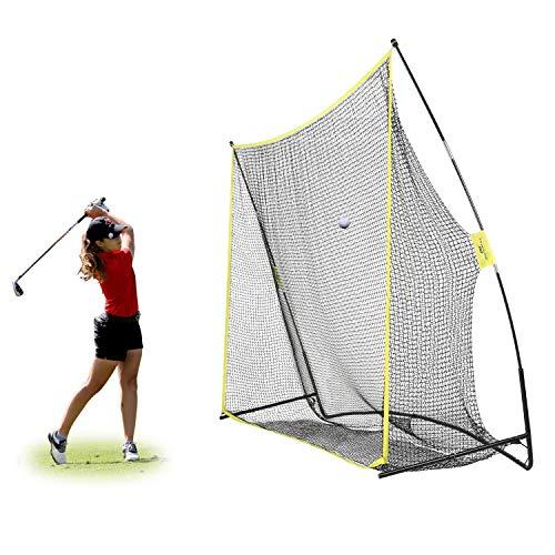PodiuMax 10x7ft Golf Hitting Net   Driving Range for Backyard & Indoor   Also Suitable for Soccer, Baseball, Softball Practice