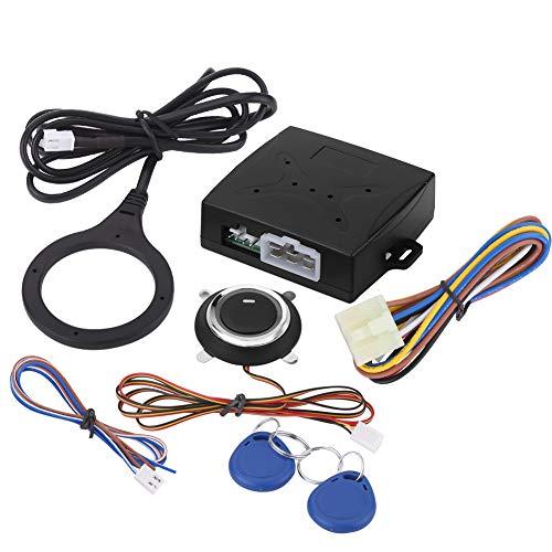 Sistema de alarma para coche, motor de alarma para coche de 12 V, botón de arranque, parada, bloqueo, encendido, entrada sin llave