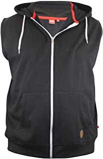 D555 Sleeveless Hoody (Blake) Contrast Zip and Drawcord in Size 1XL to 6XL, 3 Color Options