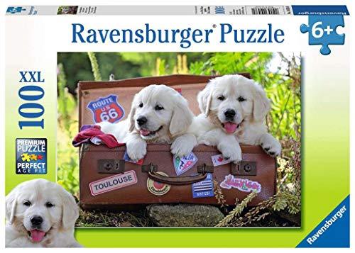 Ravensburger Italy- Puzzle 100 Pezzi XXL Cani Cuccioli Cagnolini, Multicolore, 10538 0